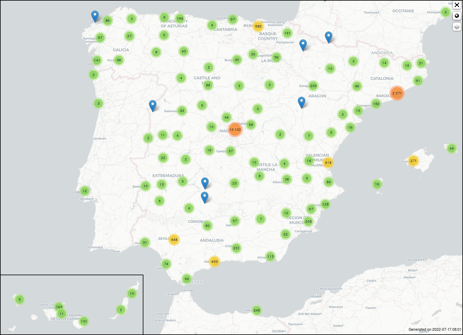 Mapa de amenazas